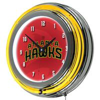 NBA Chrome Double Rung Neon Clock - Fade