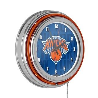 NBA Chrome Double Rung Neon Clock - City