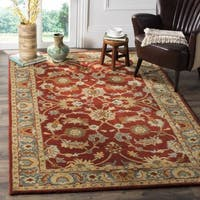 Safavieh Heritage Traditional Oriental Hand-Tufted Wool Red/ Blue Area Rug - 8' Square