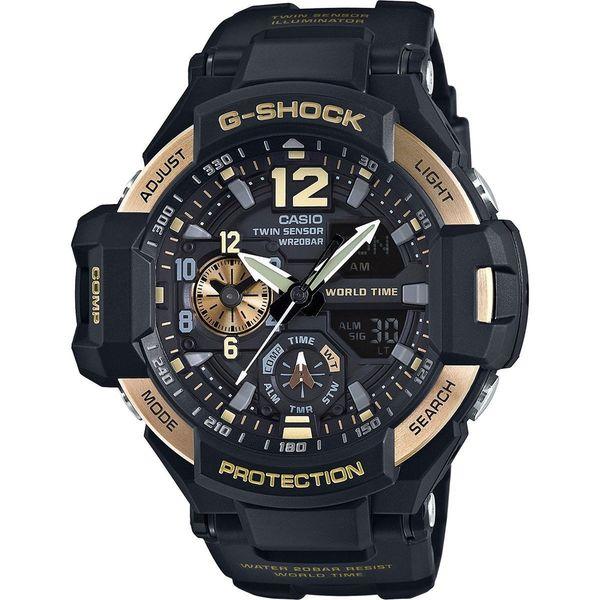 Casio Men's 'G-Shock' Analog-Digital Black Resin Watch