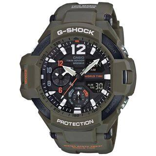 Casio Men's GA1100KH-3A 'G-Shock' Analog-Digital Green Resin Watch|https://ak1.ostkcdn.com/images/products/16411440/P22759483.jpg?impolicy=medium