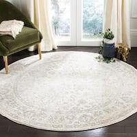 Safavieh Adirondack Contemporary Oriental/ Ivory/ Silver Area Rug - 12' x 12' round