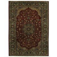 Handmade Herat Oriental Persian Tribal Mashad Wool Rug - 9'9 x 13'7 (Iran)