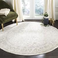 Safavieh Adirondack Contemporary Oriental/ Ivory/ Silver Area Rug - 3' Round