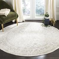 Safavieh Adirondack Contemporary Oriental/ Ivory/ Silver Area Rug - 5' Round