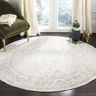 Safavieh Adirondack Contemporary Oriental/ Ivory/ Silver Area Rug (5' Round)