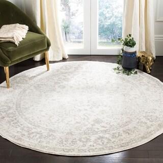 Safavieh Adirondack Contemporary Oriental/ Ivory/ Silver Area Rug (7' Round)