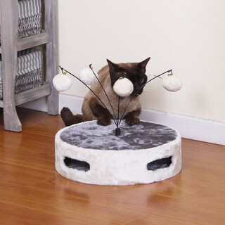 PetPals Calzone Ivory Round Fun Cat Toy