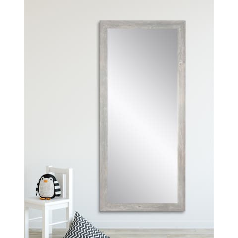 American Value Mirrors Barnwood-framed Floor Mirror - Brown