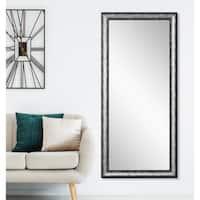 Kingston Silver 33.5 x 67 - Inch Floor Mirror - Silver/Black
