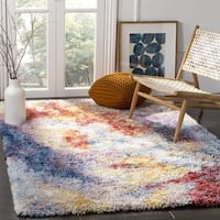 Safavieh Gypsy Transitional Abstract Polyester Rust/ Ivory Area Rug - 6'7 Square