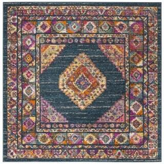 Safavieh Madison Bohemian Oriental Blue/ Fuchsia Area Rug (6'7 Square)