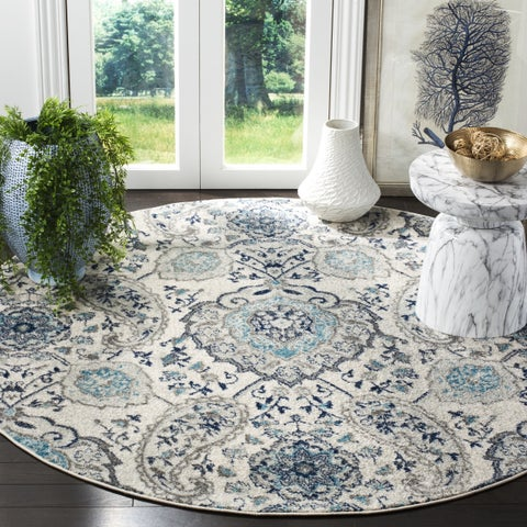 Safavieh Madison Paisley Cream/ Light Grey Area Rug - 5' Round