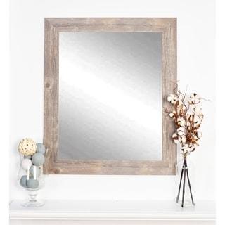 Multi Size Rustic Wild West Brown Barnwood Wall Mirror