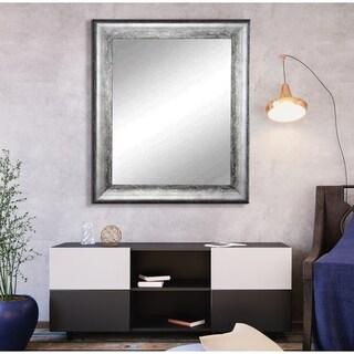 American Value Mirrors Kingston Silver Wall Mirror - Black/Silver