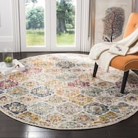 Safavieh Madison Bohemian Geometric Cream/ Multi Area Rug (5' Round)