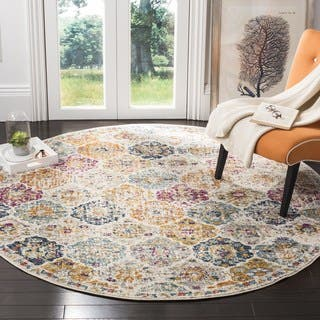 Safavieh Madison Bohemian Vintage Cream Multi Area Rug 5 Round