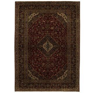 Handmade Herat Oriental Persian Tribal Kashan Wool Rug - 9'6 x 13'4 (Iran)