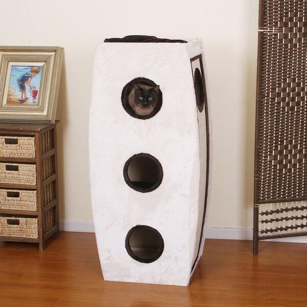 PetPals Cairn Three Level Cat Condo