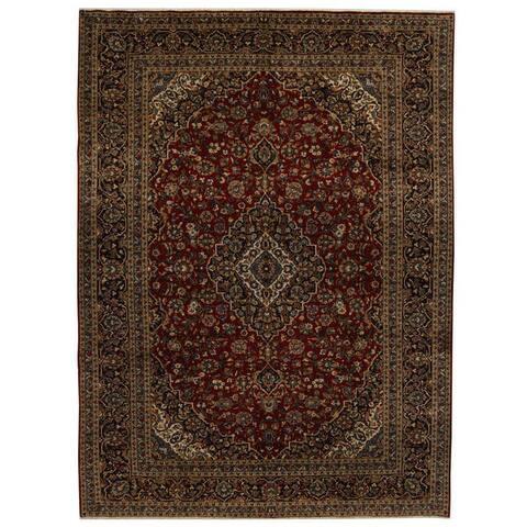 Handmade Kashan Wool Rug (Iran) - 9'11 x 13'6