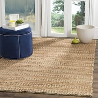 Safavieh Natural Fiber Coastal Geometric Hand-Woven Jute Natural Area Rug - 6' Square