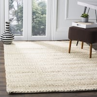 Safavieh Natural Fiber Coastal Geometric Hand-Woven Jute Bleach Area Rug - 6' Square