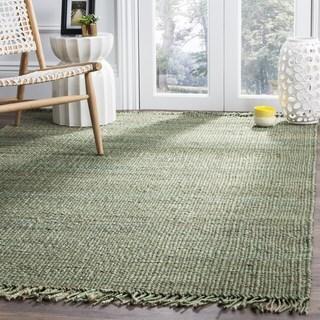 Safavieh Natural Fiber Coastal Hand-woven Jute Green Area Rug (6' x 6')