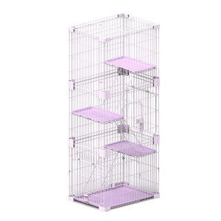 PetPals Wirehouse Three Levels Pink Cat Cage