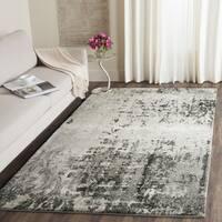 Safavieh Retro Modern Abstract Light Grey/ Grey Area Rug - 8' x 8' Square