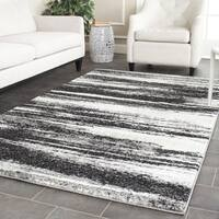 Safavieh Retro Modern Abstract Dark Grey/ Light Grey Area Rug - 4' Square