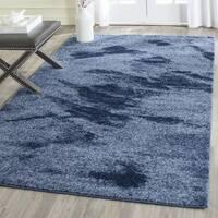 Safavieh Retro Modern Abstract Light Blue/ Blue Area Rug - 4' Square