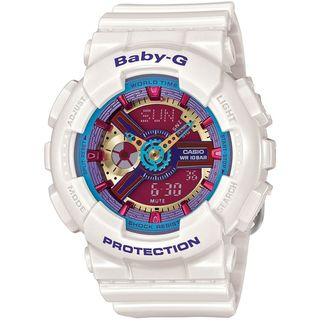 Casio Women's BA112-7A 'Baby-G' Analog-Digital White Resin Watch