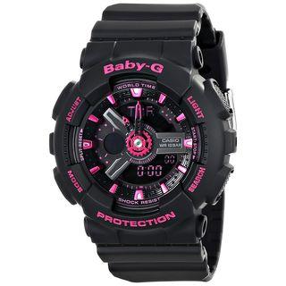 Casio Women's BA111-1A 'Baby-G' Analog-Digital Black Resin Watch