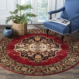 Safavieh Vintage Hamadan Vintage Oriental Red/ Multi Area Rug (5' Round)