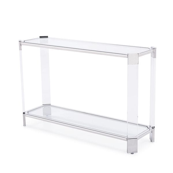 Lancaster Clear Acrylic Stainless Steel Console Table