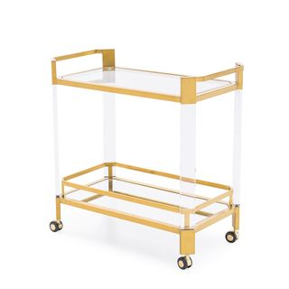 Newport Bar Trolley, Antique Gold