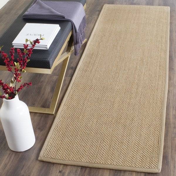 Safavieh Natural Fiber Coastal Solid Sisal Maize/ Linen Runner Rug (2'6 x 20')