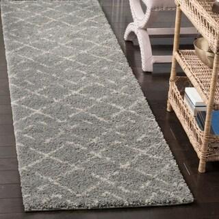 Safavieh Arizona Shag Southwestern Grey/ Ivory Runner Rug (2'3 x 6')