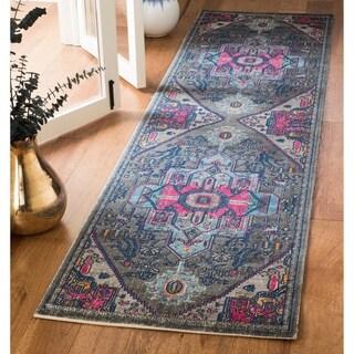 Safavieh Artisan Transitional Oriental Grey/ Fuchsia Runner Rug (2'2 x 10')