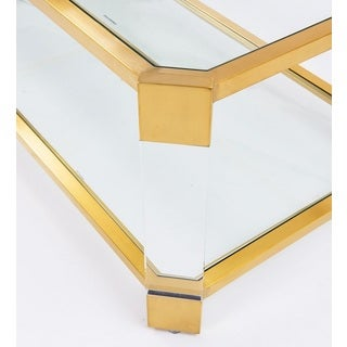 Pasadena Gold and Clear Glass Cocktail Table