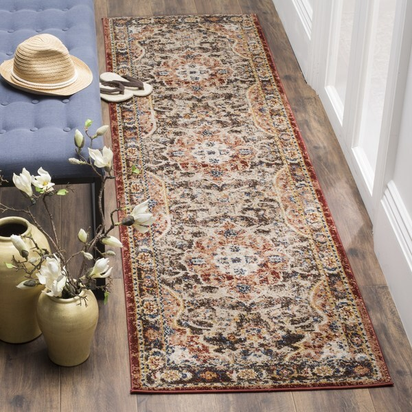 Safavieh Bijar Traditional Oriental Brown/ Rust Runner Rug - 2'3 x 12'