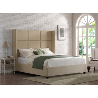Jillian Beige Linen King Bed