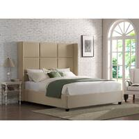 Oliver & James Jillian Beige Linen King Bed