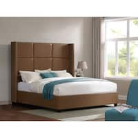 Oliver & James Jillian Tan Bonded Leather King Bed