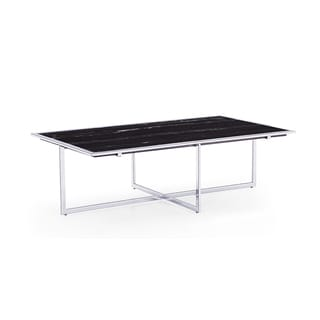 Lenox Black Marble Top Coffee Table