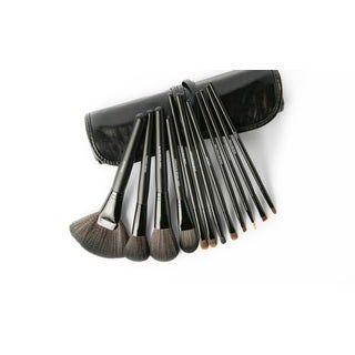 All Dolled Up 12-piece Professional Makeup Brush Set with Travel Bag