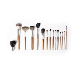 Palette 15 Piece Professional Makeup Brush Collection - birchwood