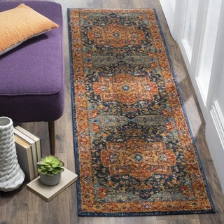 Safavieh Evoke Vintage Geometric Blue/ Orange Runner Rug (2'2 x 19')