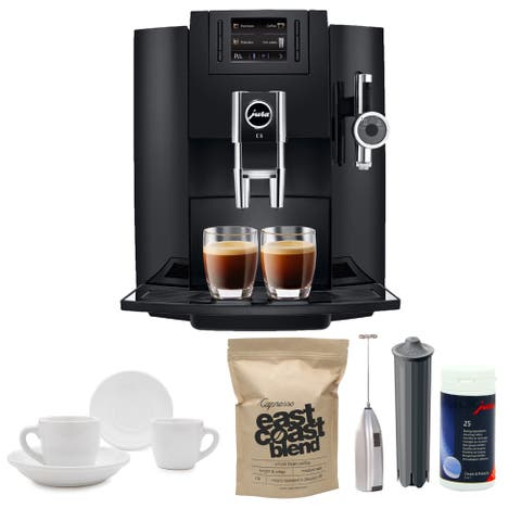 Jura E8 Espresso Machine with Milk Frother and Coffee Accessory Bundle