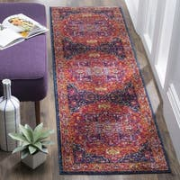 Safavieh Evoke Vintage Geometric Fuchsia/ Orange Runner Rug - 2'2 X 15'